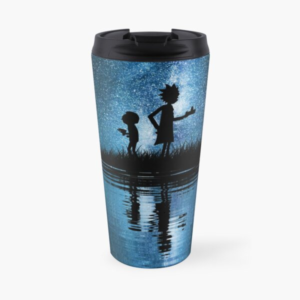 Rick and Morty in Space Travel Mug