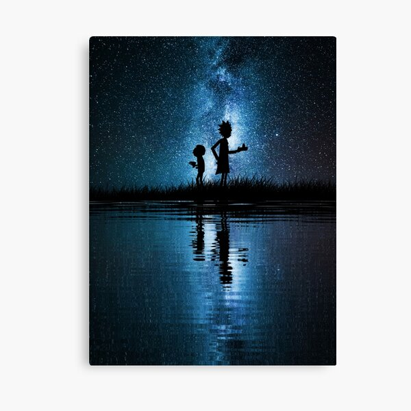 Rick and Morty in Space Canvas Print