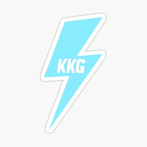 KKG lightning bolt Sticker