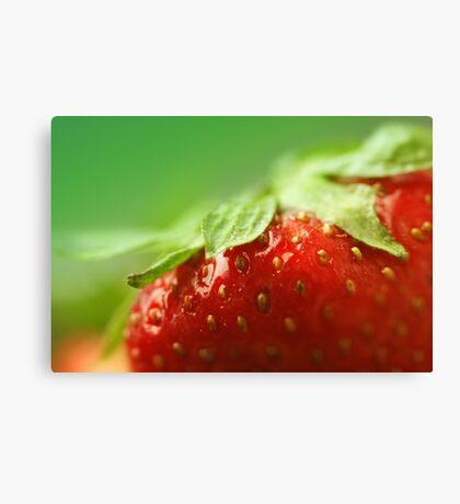 Sweet Summer Strawberry Canvas Print