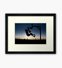 Sunset Basketball Dunk Framed Print