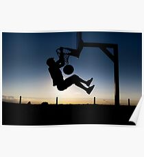Sunset Basketball Dunk Poster