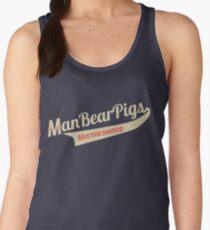 Man Bear Pigs Script Women's Tank Top
