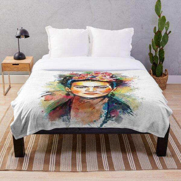 Frida Kahlo Portrait Throw Blanket