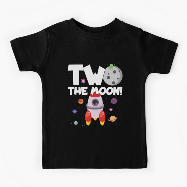 Outer Space Birthday Party Gift - 2 Year Old - Two The Moon Kids T-Shirt