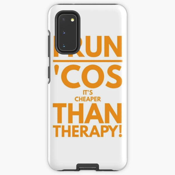 Running is Therapy Samsung Galaxy Tough Case