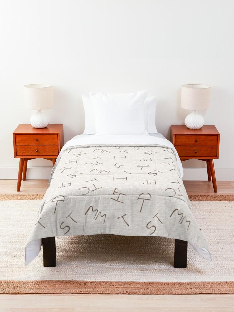 Alternate view of Cattle Brands - Beige Comforter