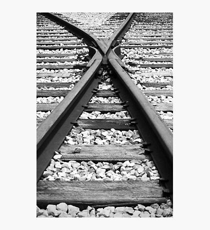 Merging Tracks Photographic Print