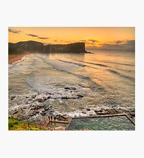 Awaiting The Dawn - Avalon Beach, Sydney Australia - The HDR Experience Photographic Print