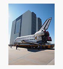 Atlantis arriving at the VAB Photographic Print