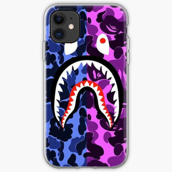 Bathing Ape Blue & Purple Camo Design Phone Case iPhone Soft Case