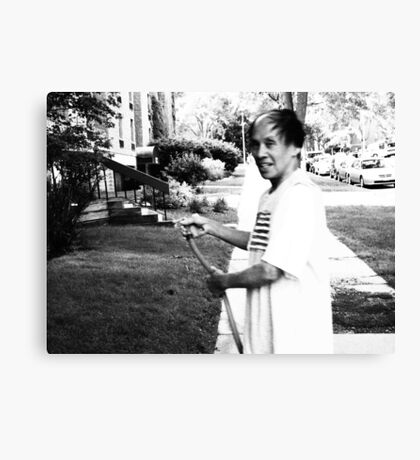 Watering Ramone- a Milwaukee Landlord Canvas Print