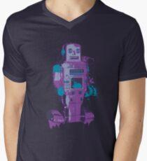 Purple Toy Robot Splattery Shirt or iPhone Case Men's V-Neck T-Shirt