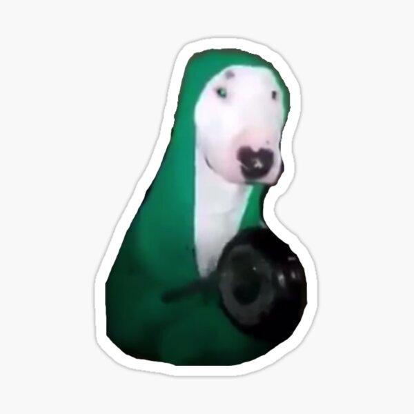 Walter Dog Hitting Pan Meme Sticker