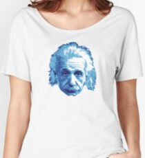 Albert Einstein - Theoretical Physicist - Blue Women's Relaxed Fit T-Shirt