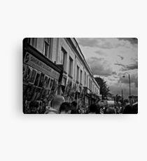 Street Stalls Canvas Print