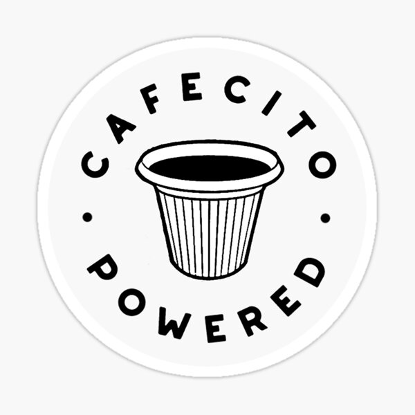 Cafecito Powered Sticker