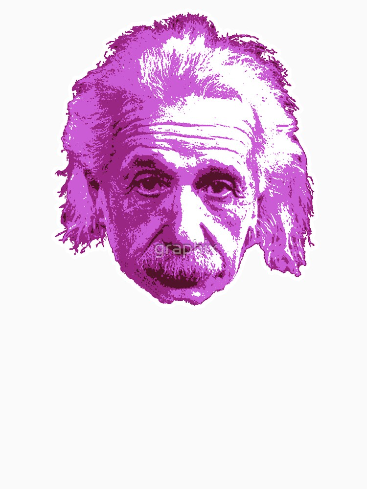 Albert Einstein - Theoretical Physicist - Pink by graphix