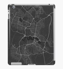 Canberra-Queanbeyan, Australia Map. (White on black) iPad Case/Skin