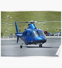 Agusta G-HDTV - Castle Air Charters Poster