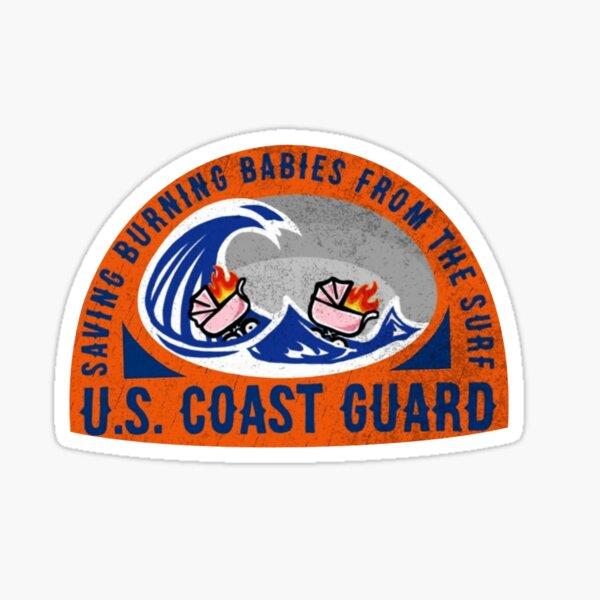 Coast Guard Saving Burning Babies in the Surf  Sticker