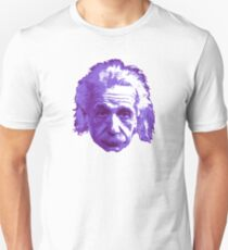 Camiseta ajustada Albert Einstein - Físico Teórico - Púrpura