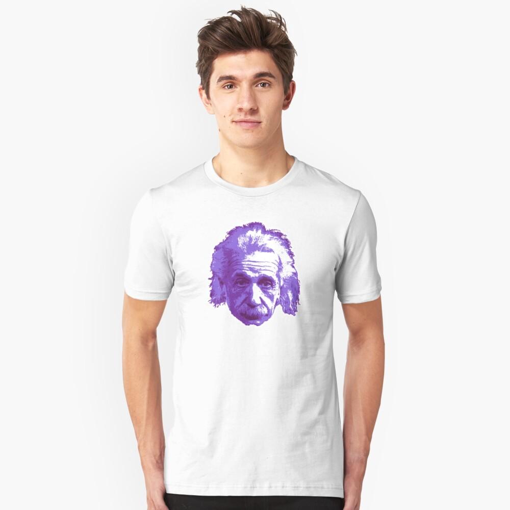 Albert Einstein - Theoretical Physicist - Purple Unisex T-Shirt Front