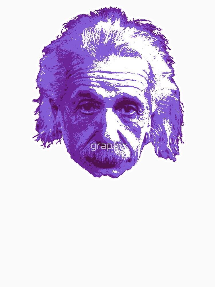Albert Einstein - Theoretical Physicist - Purple by graphix