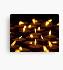 Votive Candles Canvas Print