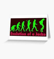 Jacko green Greeting Card