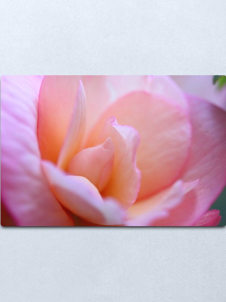 Alternate view of Pretty Pink Petals Metal Print