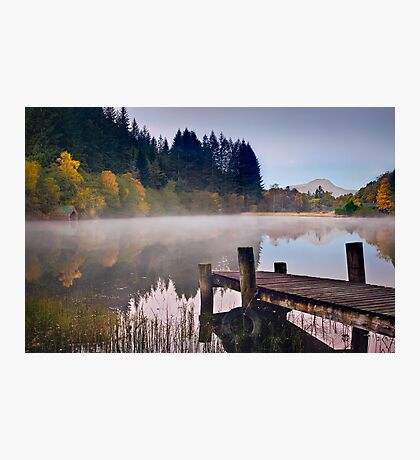 Loch Ard jetty and boat house Photographic Print