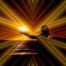 DREAM WISHING ON GOLDEN LIGHT BEAMS by RoseMarie747