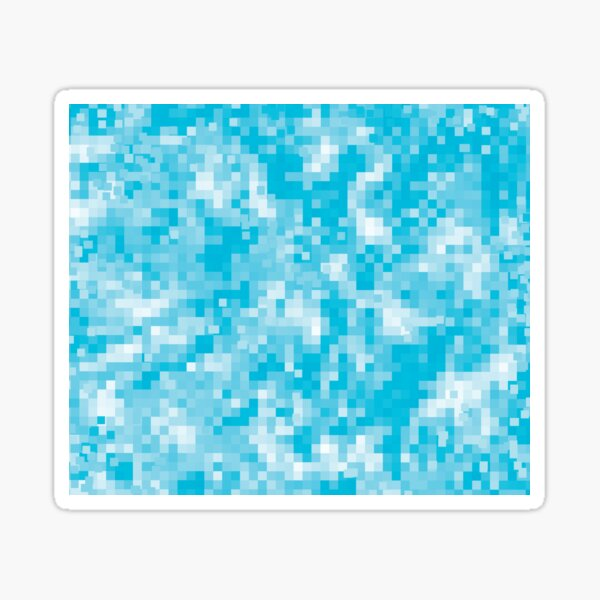 Pixelelated All Over Pattern - Turquoise Blue Zen Aesthetic Sticker