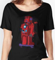 Red Robot Lilliput Splattery Shirt or iPhone Case Women's Relaxed Fit T-Shirt