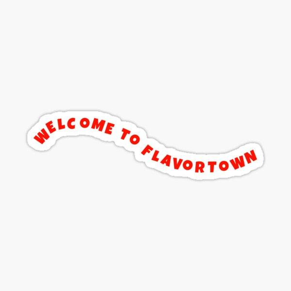 WELCOME TO FLAVORTOWN GUY FIERI Glossy Sticker
