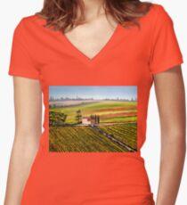 Tuscany - Vineyards Women's Fitted V-Neck T-Shirt