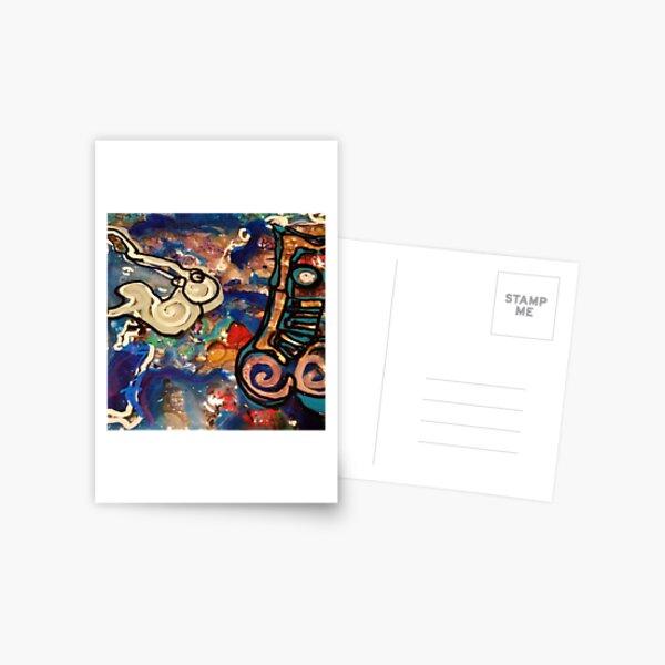 Resin Artwork by Chicago Artist Gary Bradley Postcard
