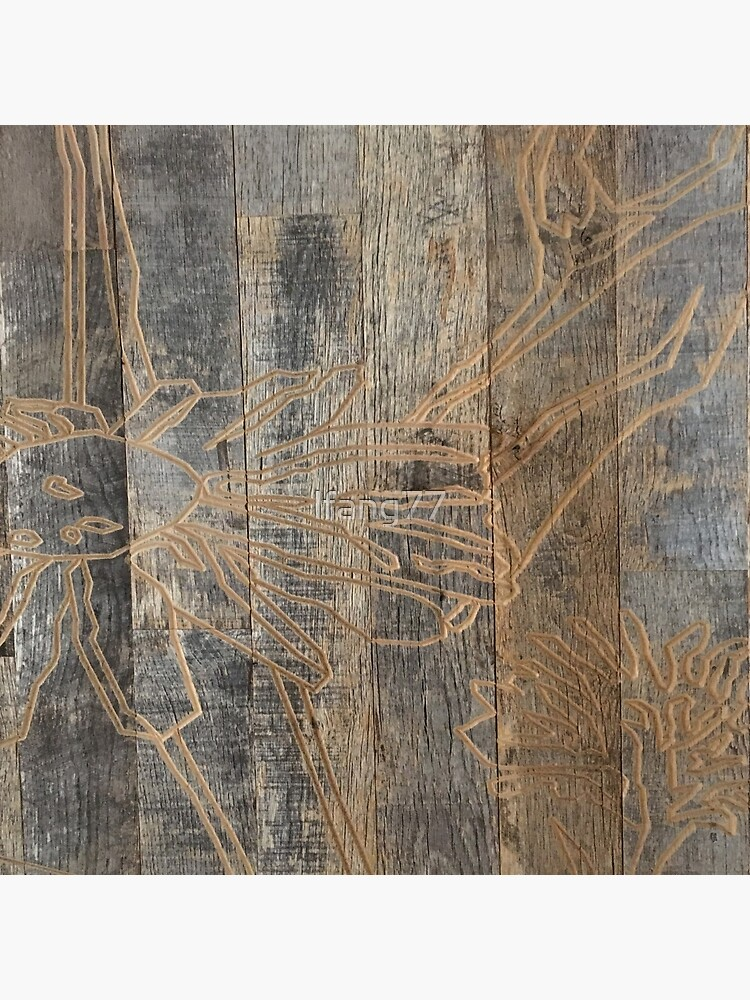 whimsical daisy flower engraved wood barnwood by lfang77