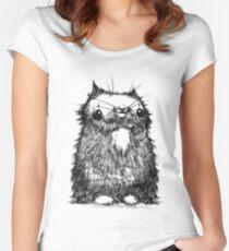 Black Creepycat Women's Fitted Scoop T-Shirt
