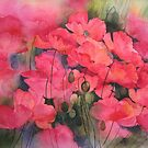 Scarlet Poppies by artbyrachel