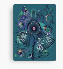 Stylized Music Poster 2 Canvas Print