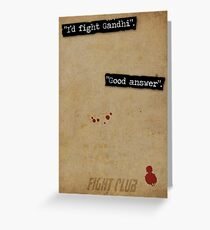 Good Answer Greeting Card