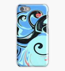 Red, Black, and Blue Abstract Design iPhone Case/Skin