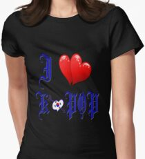 I LOVE K POP MUSIC. Womens Fitted T-Shirt