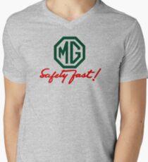 MG Safety Fast Men's V-Neck T-Shirt