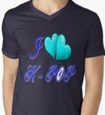 I LOVE K-POP Mens V-Neck T-Shirt