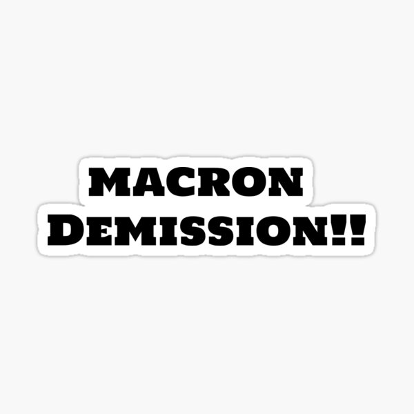 Macron Démission Sticker