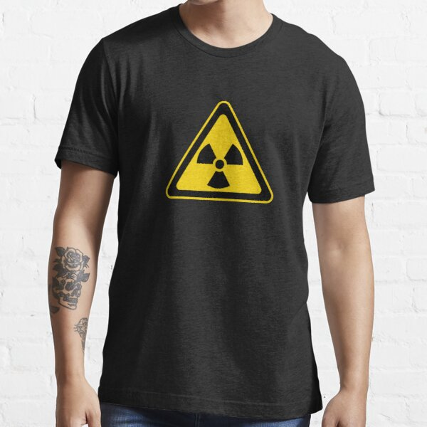 Radioactive Symbol Warning Sign - Radioactivity - Radiation - Yellow & Black - Triangular Essential T-Shirt