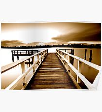 Tweed Jetty Sepia Poster
